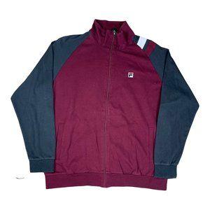 Fila Tracksuit Jacket in Burgundy